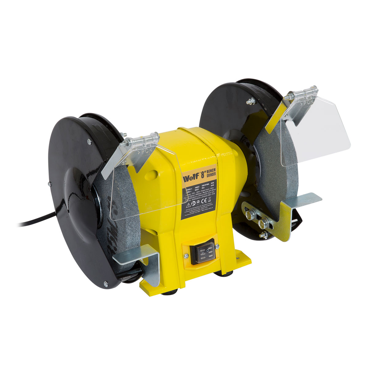 Wolf 8 350w Dual Twin Grinding Stone Bench Grinder 200mm