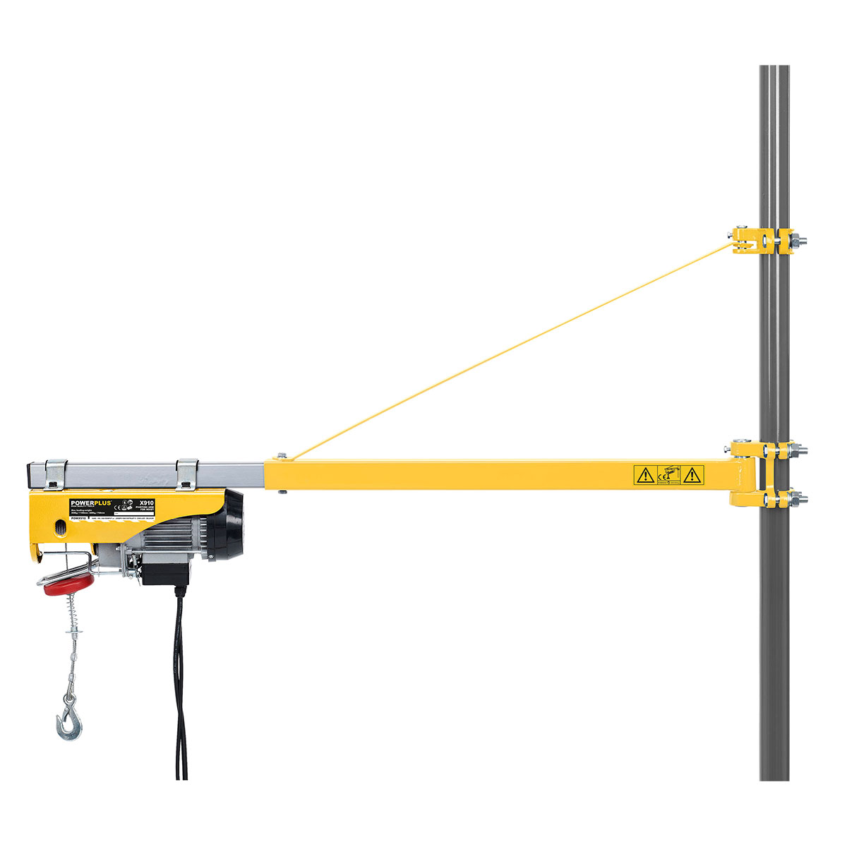 Swing Arm Hoist Mount : Powerplus mm to extending electric hoist swing