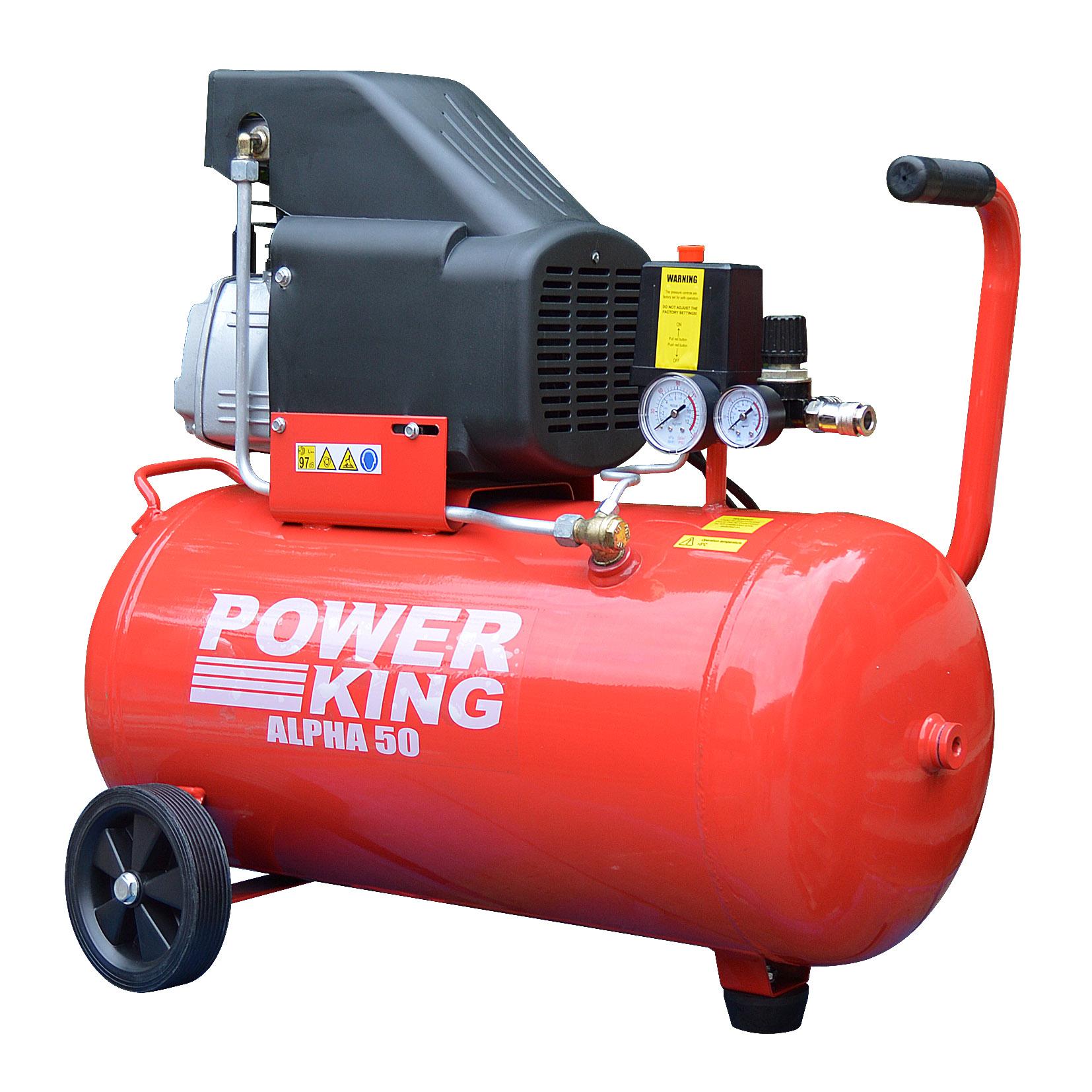 King Air Air Compressors : Ex demo power king alpha litre hp v motor cfm